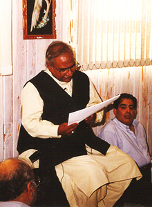 Baquer Zaidi reciting his poetry
